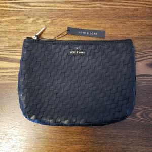 Love & Lore Large Curved Pouch - Black